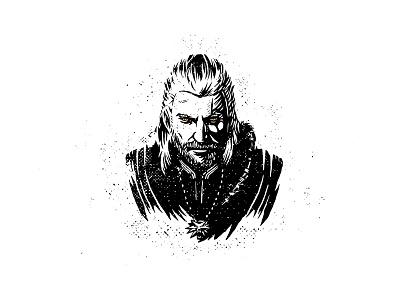 Geralt Of Rivia The Witcher dusan klepic illustration fantasy mythology slavic poland polish hunter hero game rpg geralt of rivia witcher