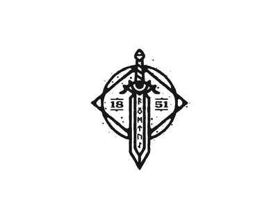Sword concept dusan klepic skills logo warrior nordic mysterious eye weapon magic runes gaming video game rpg sword
