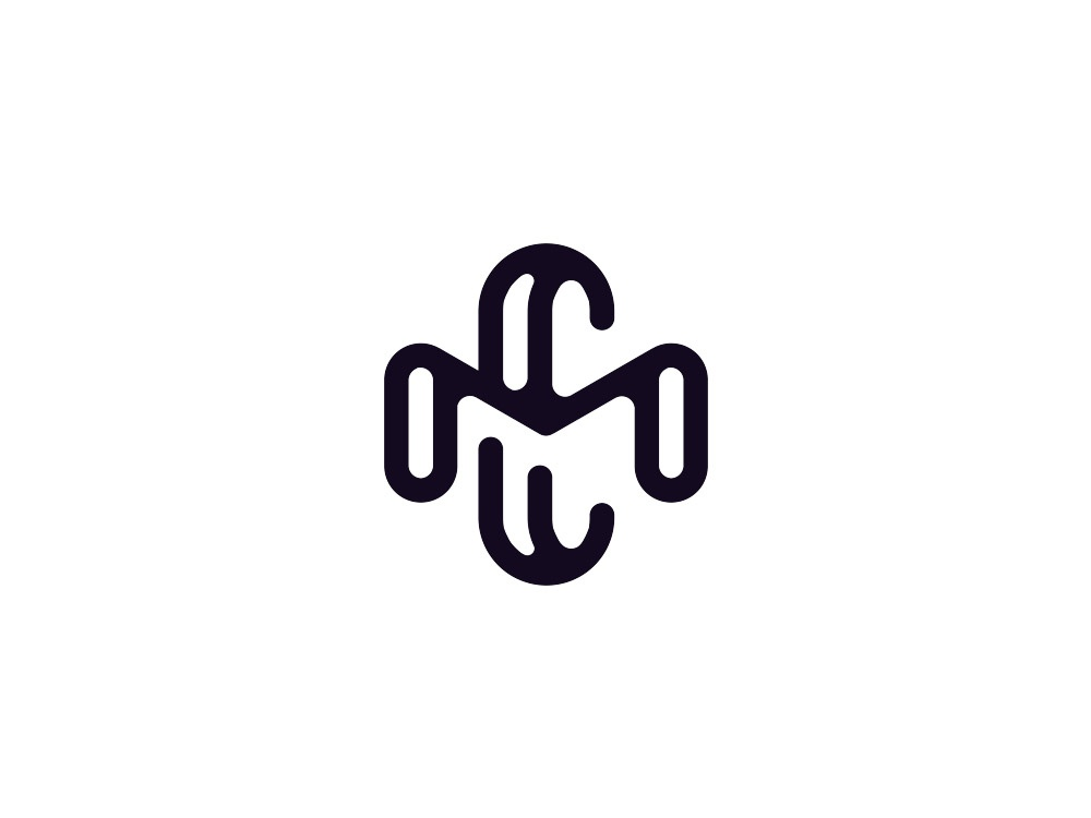 MC monogram simple modern cm mc design black monogram branding logo vintage dusan klepic