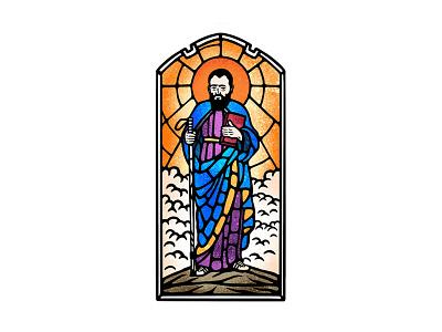 Habsburg dusan klepic vintage illustration branding logo tv comedy belgium habsburg holy noble stained glass