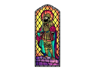 Charles V, Holy Roman Emperor dusan klepic habsburg roman emperor king humor church icon noble holy stained glass