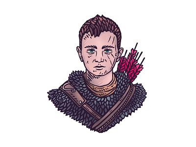 The Boy - Atreus dusan klepic illustration story fantasy mythology greek nordic fanart ps4 gaming rpg boy god of war