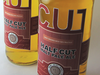 Half Cut Pale Ale Label