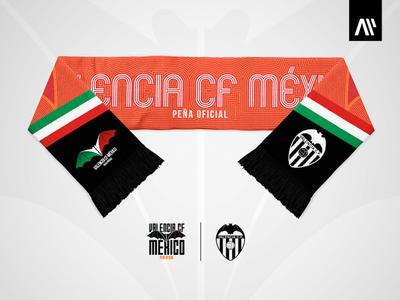 Valencia CF México - Soccer Scarf scarf valencia soccer amunt valencia cf multitasking aleps design