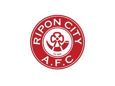 Ripon City AFC logo football club football soccer logo soccer branding logotype logo