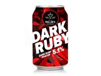 Dark ruby beer rebranding
