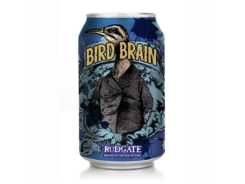Bird Brain beer rebranding packaging graphic design branding rebranding