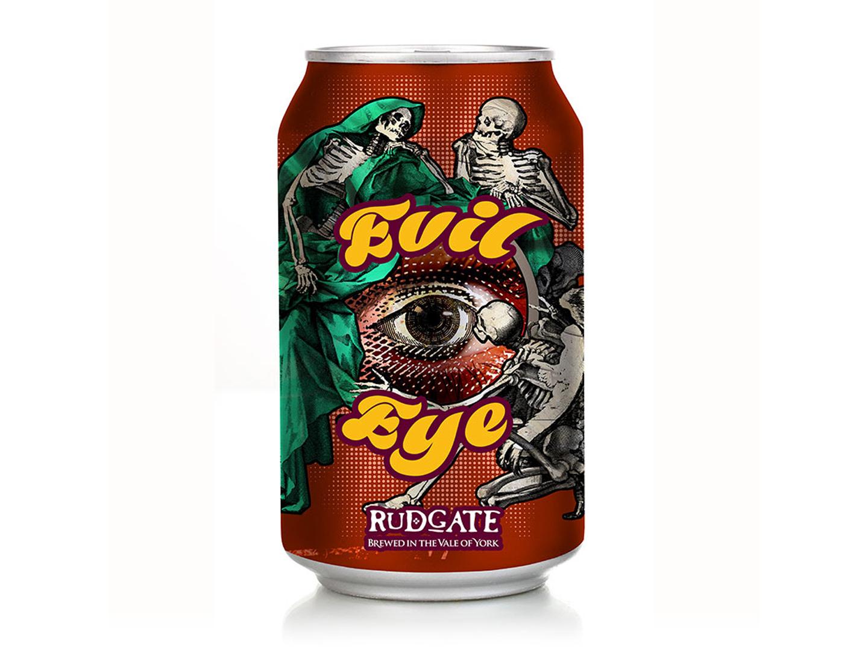 Evil Eye beer rebranding packaging graphic design branding rebranding