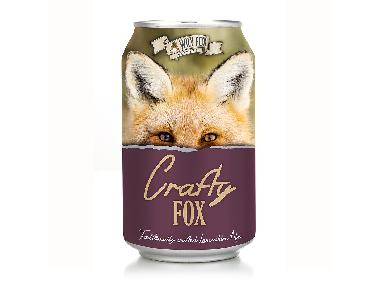 Crafty Fox beer rebranding packaging graphic design branding rebranding