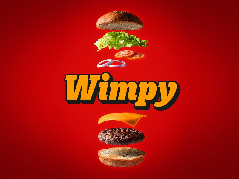 Wimpy restaurant logo redesign design logo typography graphic design branding