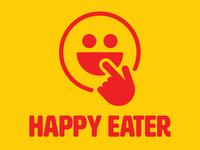 Happy Eater restaurant logo redesign