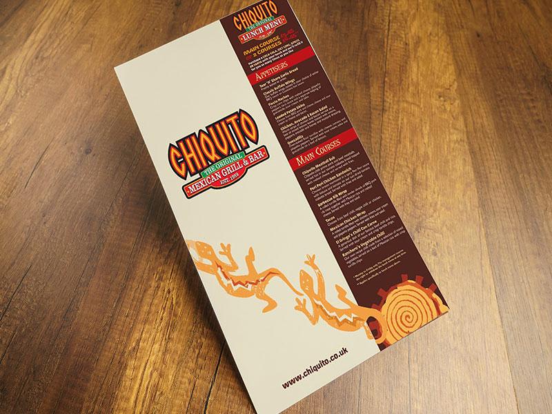Chiquito restaurant menu bar design graphic design menu design restaurant menu card menu