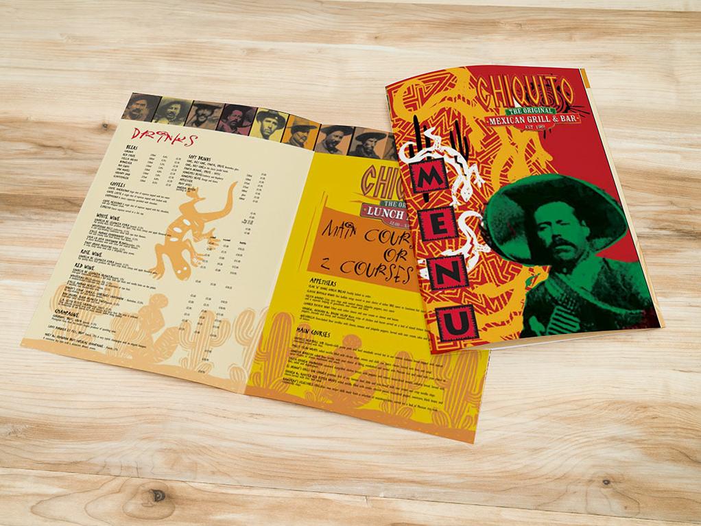 Chiquito restaurant menu restaurant menu design menu card bar graphic design design menu