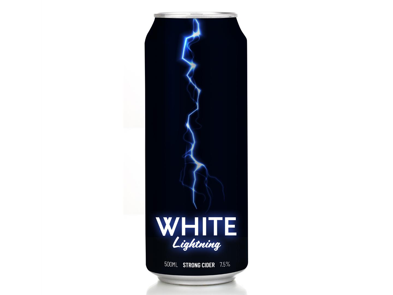 White Lightning cider redesign packaging beer cider drinks rebranding graphic design branding