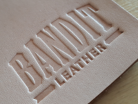 Bandit Leather typographic logo stamp
