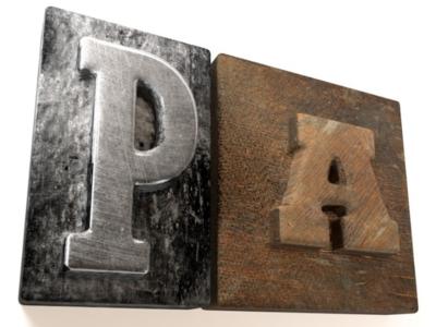 Metal and wood type 3D render