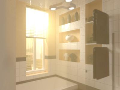 Redshift 3D render volumetric lighting test
