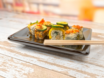 Sushi. Redshift and Cinema4D render