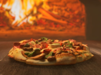 Pizza. Cinema 4d and Redshift 3d render