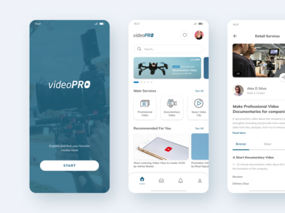 VideoPRO App - Marketplace for Video Services