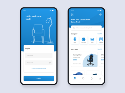 E-commerce App Interface - Furniture