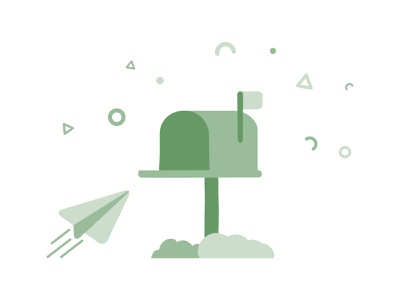 Eco Friendly Green Illustration Of A Letterbox Receiving Mail ecommerce simple nature cute clean minimal infographic illustration icon sustainable environmentally friendly eco-friendly eco green post service mailbox mail letterbox