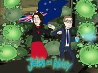 Jacinda & Ashley Fight Covid-19, Rick & Morty Style