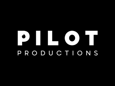 Bold Black & White Flame Logo Design For Pilot Productions brand identity theatre business company bold bold font white black black and white logo production production company logotype lit flame spark logo flame logo logos logo design logo