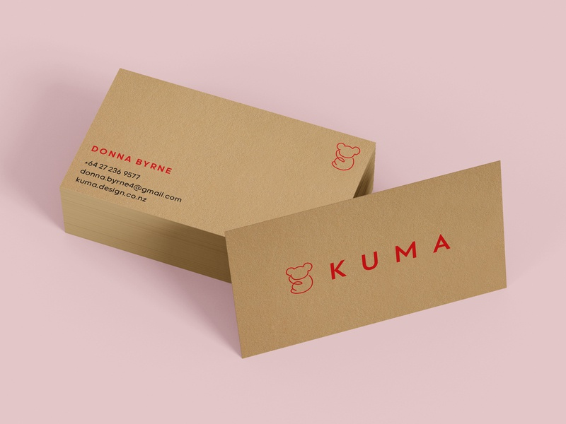 Recycled Eco Business Cards In Keaykolour business cards design simple red logo koala compostable environment design brand design branding brand identity clean minimal kraft brown environmentally friendly recycle recylable eco-friendly eco business card design business cards