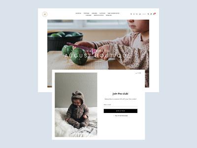 Clean and Modern Ecommerce Website Design ecommerce website ux ui clean
