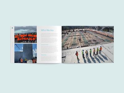 Company Profile Brochure Design for a Construction Business company profile booklet simple brochure design illustration clean