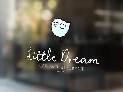 Cute Blue Bird Logo for a Cafe pastel blue bird branding cafe branding cafe logo cute logo bird logo cute