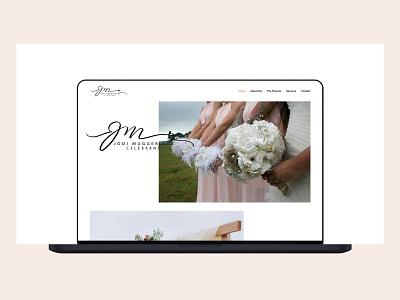 Elegant Website Design for Wedding Celebrant design minimal clean elegant website ui ui  ux ux website design wedding