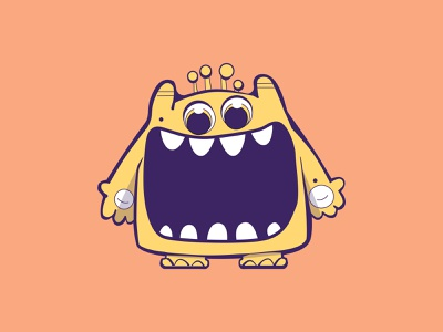 Cute Monster Illustrations for a Cookie and Candy Company branding