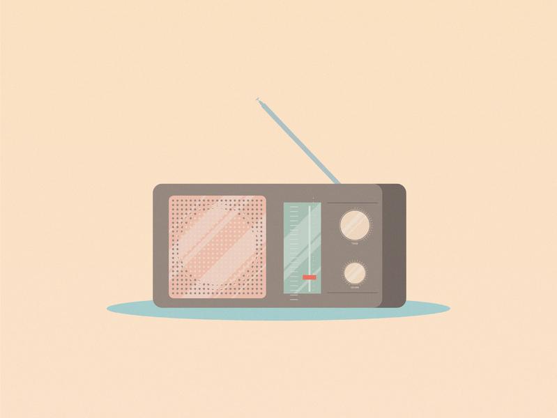 Old Radio adobe illustrator adobe art design grain old is gold retro illustration graphic design radio