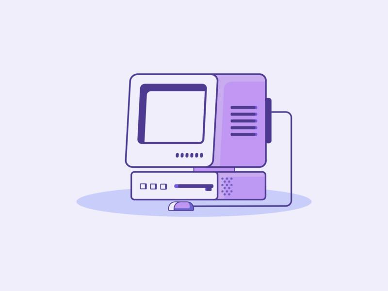Retro Desktop adobe illustrator adobe purple retro illustration art graphic design design