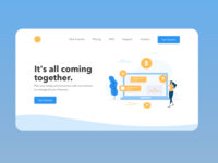 Landing Page - Adobe XD Daily Creative Challenge day1 userexperince userinterface dailycreativechallenge adobexd