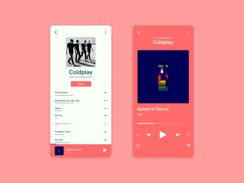 Music Player music mobile designlife uidesign ui  ux ui uiux userexperience userinterface uichallange dailyui figma musicplayer