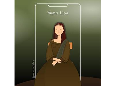 Mona Lisa illustration vector digitalart illustration design