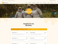 Beelicious WP Theme - Home Page 3