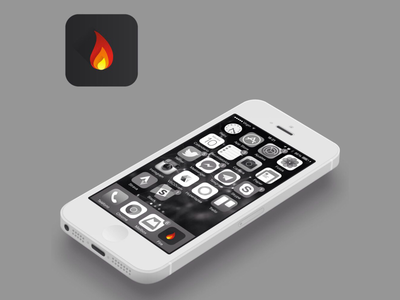 Fire Icon flame flat ios icon fire