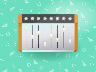 Mixing Board vector illustration mixing board music