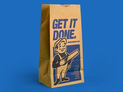 Dunn Lumber Bag bag design illustration saw packaging bag