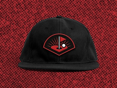 Flatstick Cares Hat flag heart golf logo badge patch hat