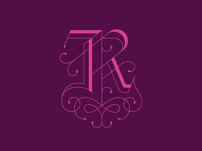 "Drop Cap ""R"" type logo monogram logo monogram lettering drop cap dropcap"