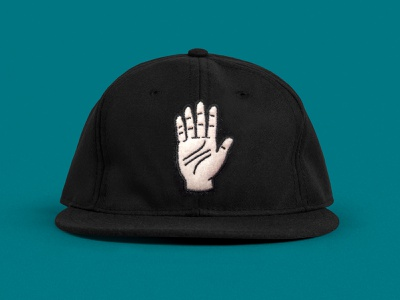 Thrice Hat wool felt ebbets hat palm hand
