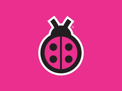 Ladybug Logo branding logos logodesign logo bugs bug ladybug