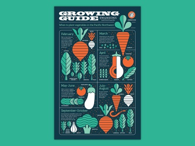 Growing Guide Infographic gardening food worm leaves broccoli beet radish tomato plants app plants vegetables garden infographic