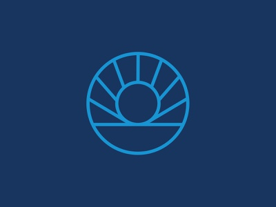 Sundial Logo monoline logo monoline design logo sun sundial