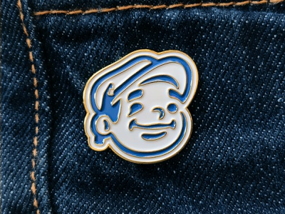Dunn Lumber Pin logodesign denim pencil hat head mascot logo pins pin enamelpins enamel enamel pin enamelpin